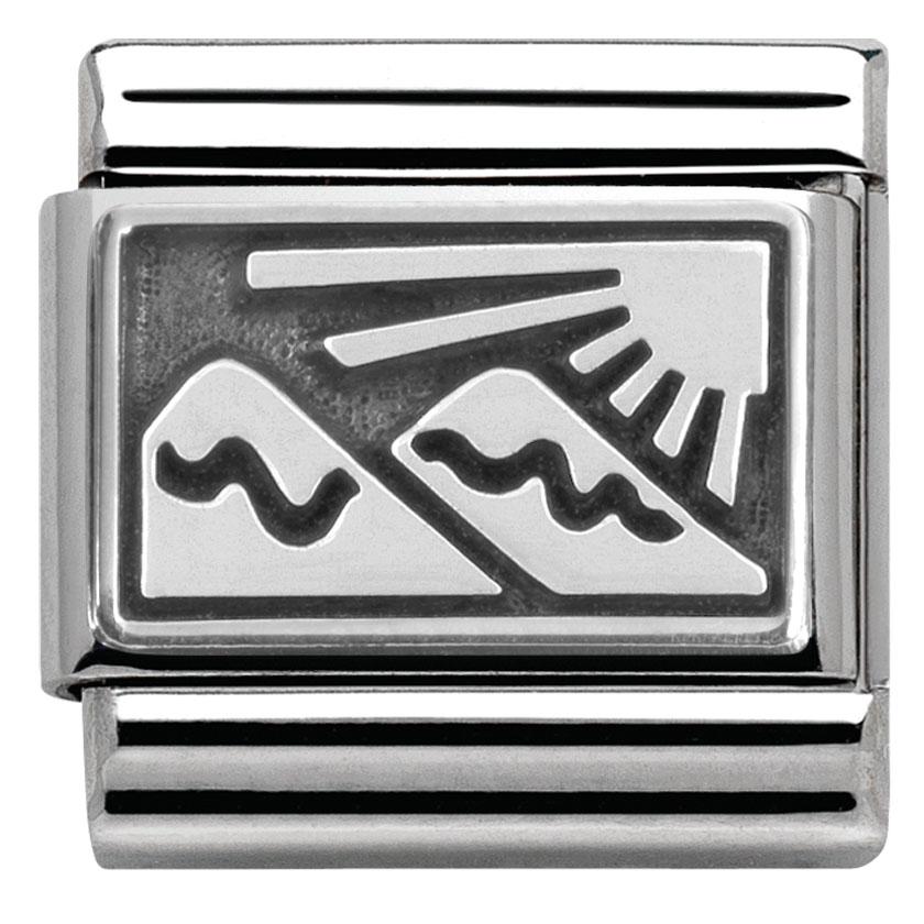 echt nomination composable classic plaettchen berge 330102 26 ebay. Black Bedroom Furniture Sets. Home Design Ideas