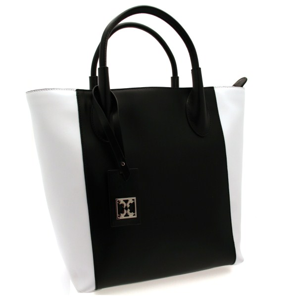 original coccinelle tasche milly damen weiss schwarz c1qo5180202 ebay. Black Bedroom Furniture Sets. Home Design Ideas