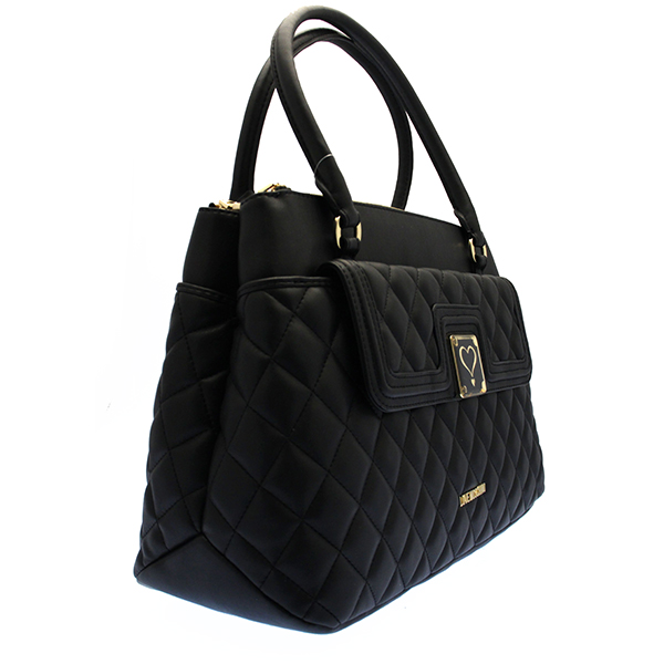 echt love moschino tasche superquilted damen schwarz jc4014pp13la0000 ebay. Black Bedroom Furniture Sets. Home Design Ideas