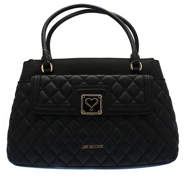 details zu echt love moschino tasche superquilted damen schwarz. Black Bedroom Furniture Sets. Home Design Ideas