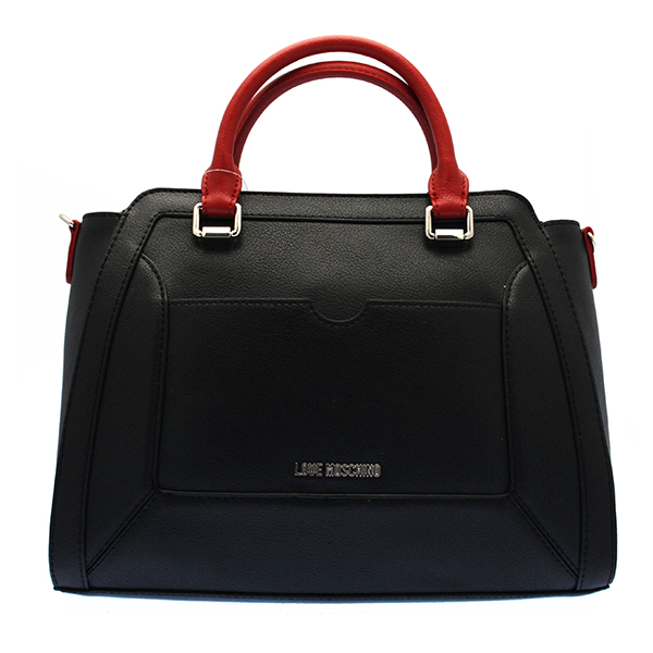echt love moschino tasche damen schwarz rot jc4054pp13le100a ebay. Black Bedroom Furniture Sets. Home Design Ideas