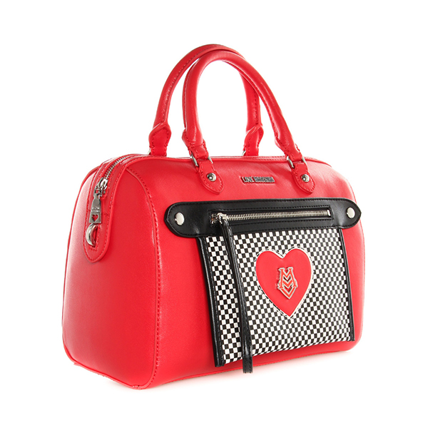 echt love moschino tasche damen rot jc4077pp1klh150a ebay. Black Bedroom Furniture Sets. Home Design Ideas