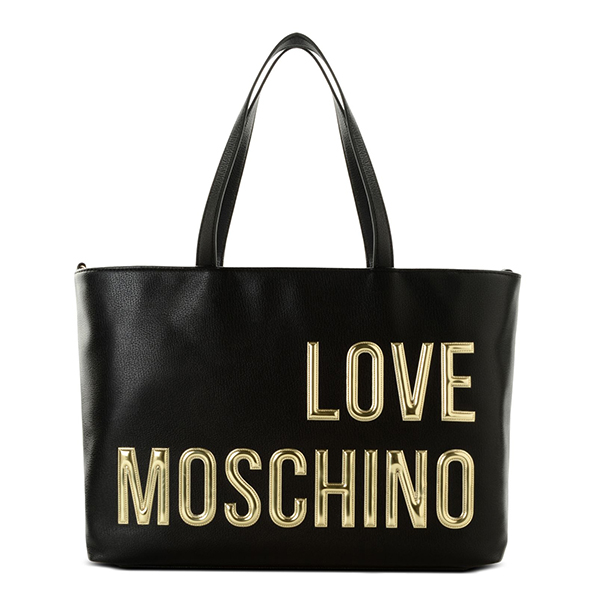 echt love moschino tasche logo font damen schwarz jc4080pp13ll0000 ebay. Black Bedroom Furniture Sets. Home Design Ideas