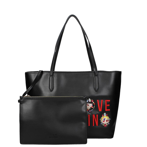 echt love moschino tasche damen schwarz jc4313pp03kr0000 ebay. Black Bedroom Furniture Sets. Home Design Ideas